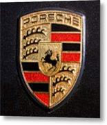 Porsche Emblem -211c Metal Print by Jill Reger