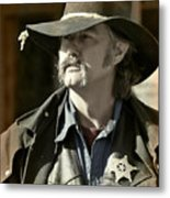 Portrait Of A Bygone Time Sheriff Metal Print by Christine Till
