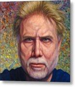 Portrait Of A Serious Artist Metal Print by James W Johnson