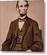 Portrait Of Abraham Lincoln Metal Print by Mathew Brady