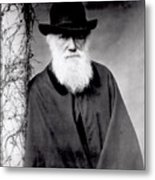Portrait Of Charles Darwin Metal Print by Julia Margaret Cameron