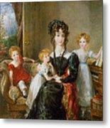 Portrait Of Elizabeth Lea And Her Children Metal Print by John Constable