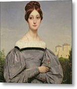 Portrait Of Louise Vernet Metal Print by Emile Jean Horace Vernet