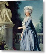 Portrait Of Marie-louise Victoire De France Metal Print by Adelaide Labille-Guiard