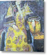 Portrait Of The Empress Dowager Cixi Metal Print by Chinese School
