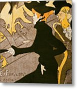 Poster Advertising Le Divan Japonais Metal Print by Henri de Toulouse Lautrec