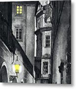 Prague Love Story Metal Print by Yuriy  Shevchuk