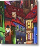 Prague Old Street 01 Metal Print by Yuriy  Shevchuk