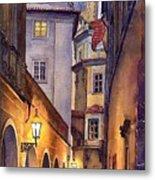 Prague Old Street  Metal Print by Yuriy  Shevchuk