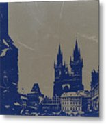 Prague Old Town Square Metal Print by Naxart Studio