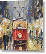 Prague Old Tram 08 Metal Print by Yuriy  Shevchuk