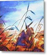 Prairie Sky Metal Print by Hanne Lore Koehler