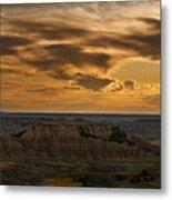 Prairie Wind Overlook Badlands South Dakota Metal Print by Steve Gadomski
