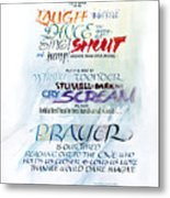 Prayer Metal Print by Judy Dodds