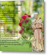 Prayer Of St. Francis Of Assisi Metal Print by Bonnie Barry