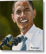 President Barack Obama Metal Print by Christopher Oakley