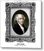 President John Adams Portrait  Metal Print by War Is Hell Store
