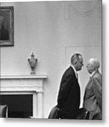 President Johnson Invading The Space Metal Print by Everett