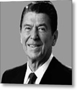 President Reagan Metal Print by War Is Hell Store
