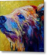 Pretty Boy - Grizzly Bear Metal Print by Marion Rose