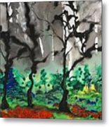 Primary Forest Metal Print by Nadine Rippelmeyer