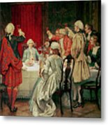 Prince Charles Edward Stuart In Edinburgh Metal Print by William Brassey Hole