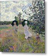 Promenade Near Argenteuil Metal Print by Claude Monet