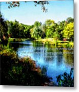 Proverb 4-18 Path Of The Just Metal Print by Susan Savad