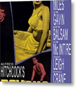 Psycho, Anthony Perkins, Janet Leigh Metal Print by Everett