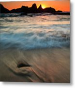 Pulled By The Tides Metal Print by Mike  Dawson
