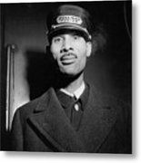 Pullman Porter At The Union Station Metal Print by Everett