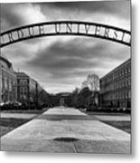 Purdue Entrance Sign Metal Print by Coby Cooper