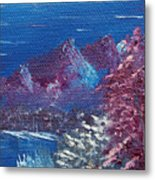 Purple Mountain Landscape Metal Print by Jera Sky