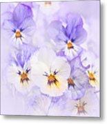 Purple Pansies Metal Print by Elena Elisseeva