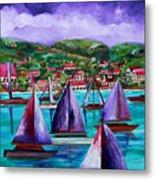 Purple Skies Over St. John Metal Print by Patti Schermerhorn