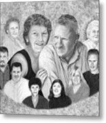 Quade Family Portrait  Metal Print by Peter Piatt