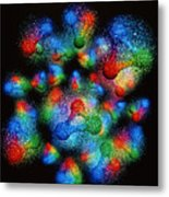 Quark Structure Of Silicon Atom Nucleus Metal Print by Arscimed