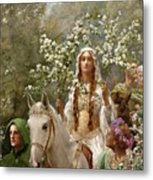 Queen Guinevere Metal Print by John Collier