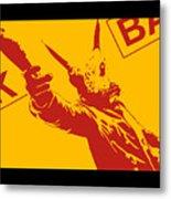 Rabbit Heist Metal Print by Pixel  Chimp