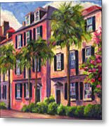 Rainbow Row Charleston Sc Metal Print by Jeff Pittman