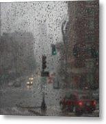 Rainy Days In Boston Metal Print by Julie Lueders