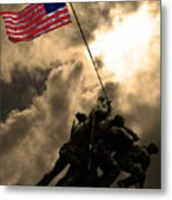 Raising The Flag At Iwo Jima 20130211 Metal Print by Wingsdomain Art and Photography