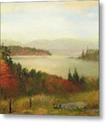 Raquette Lake Metal Print by Homer Dodge Martin