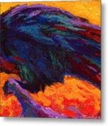 Raven Metal Print by Marion Rose