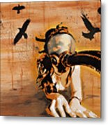 Ravens Remain The Harbinger Of Secrets Metal Print by Tai Taeoalii