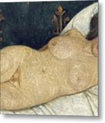 Reclining Female Nude Metal Print by Paula Modersohn-Becker