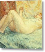 Reclining Nude Metal Print by Henri Lebasque