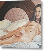 Reclining Nude Metal Print by Kenneth Kelsoe