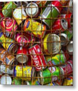 Recycling Cans Metal Print by Carlos Caetano