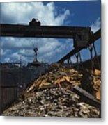 Recycling Scrap Steel During World War Metal Print by Everett
